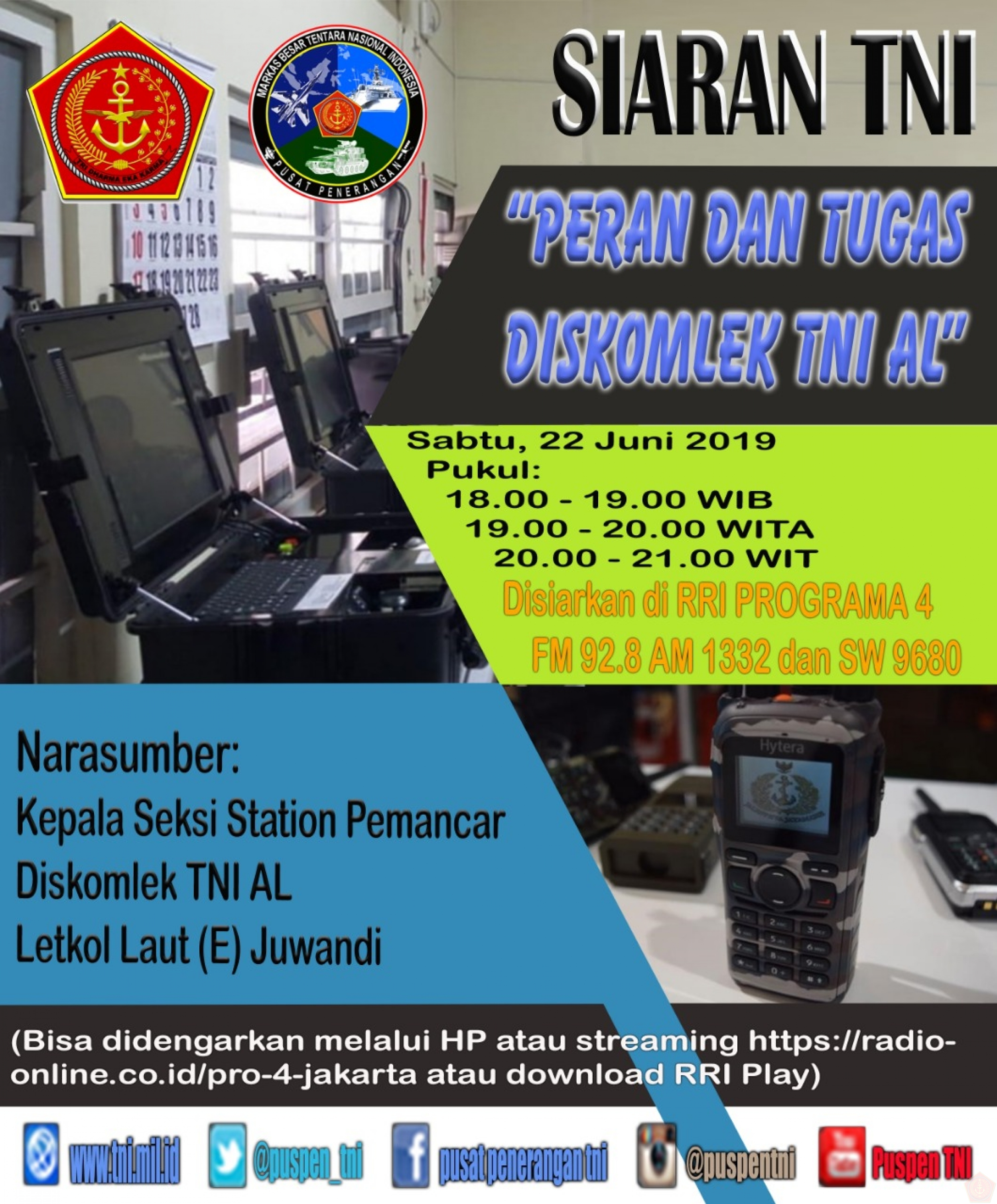 SIARAN  TNI DI RRI PROGRAM 4.