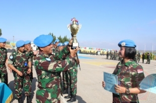 Indobatt XXIII- K Juara Intercontingent Shooting Championship Unifil 2017