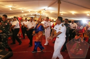 Satgas MTF TNI dan Angkatan Laut India Gelar Cocktail Party