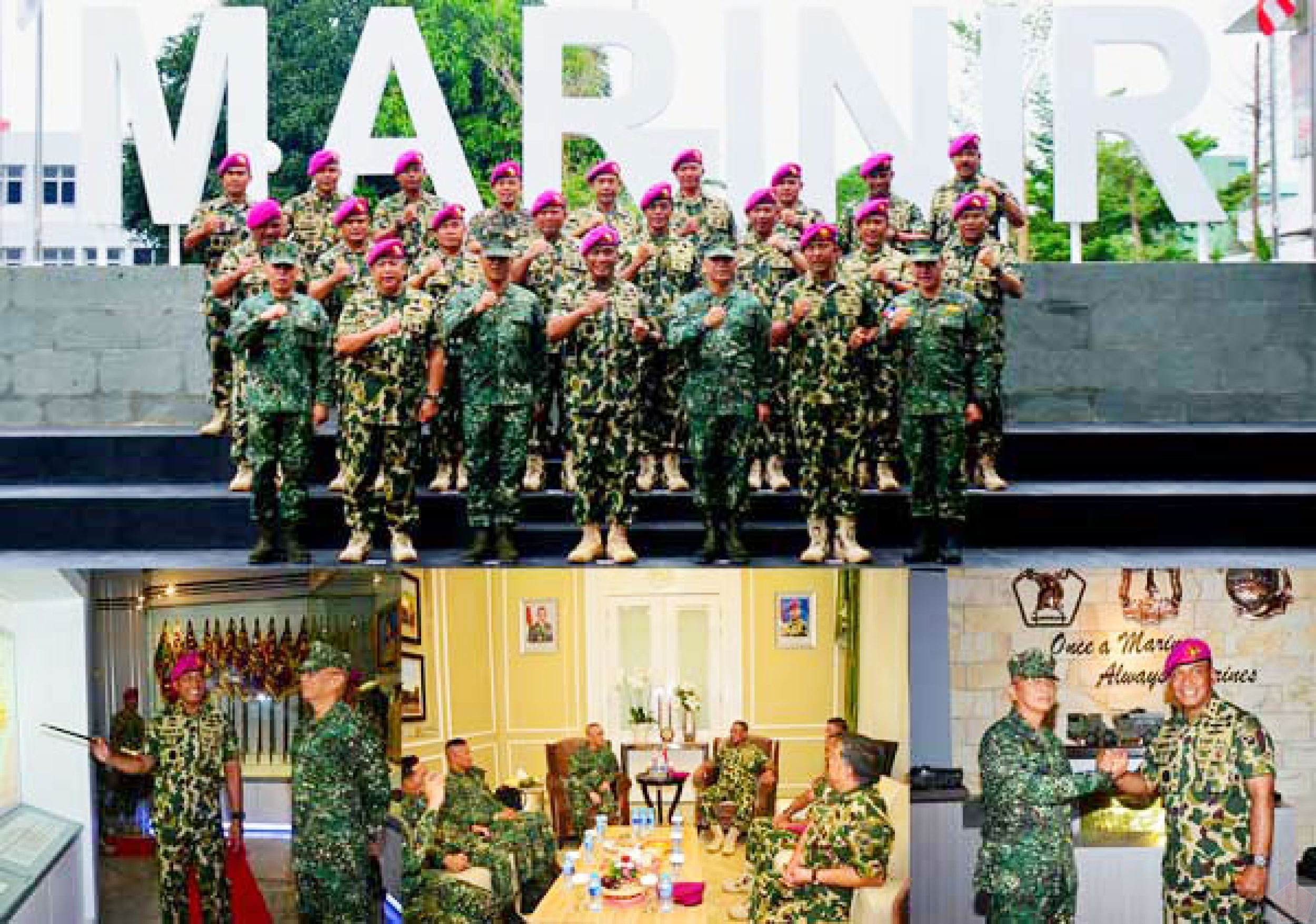 Commandant Of Philippines Marine Corps Courtesy Call Ke Dankormar